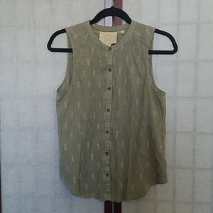 🎉HP🎉 Anthropologie Olive green button-down top 4